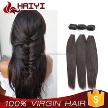 Popular Natural Color Tangle Free Brazilian Virgin Hair Silky Straight