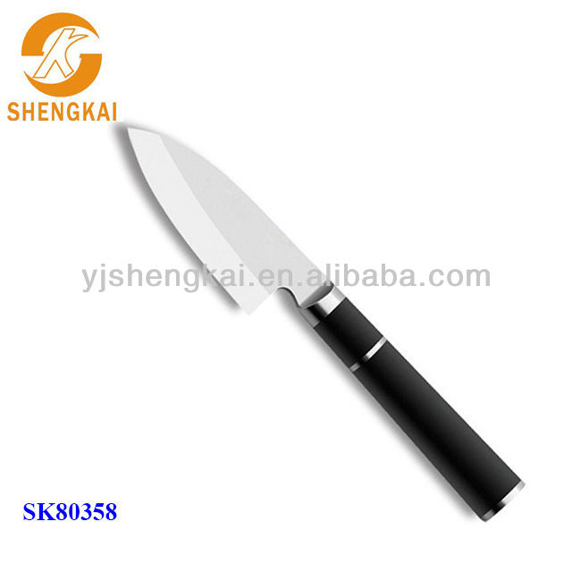 1pc laser stainless kitchen knives in stainless steel hollow handle with TPR outer coating
