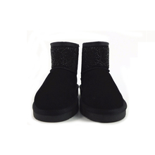 High Quality New Women Winter Hollow Hot Drilling Black Boots