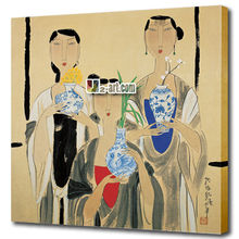 Factory art modern decor painting printed on canvas classical chinese girls Portraits picture