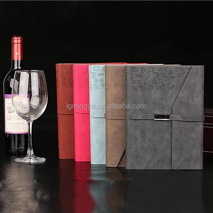 High quality fashion design pu cover notebook