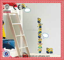 Art Decals MINIONS Removable Animal Cartoon wall stickers for kids rooms DIY Child Wallpaper 3D House Decoration