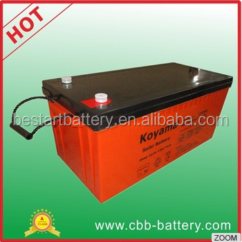 Top selling long life 12V 220Ah deep cycle Solar Gel Battery for solar systems