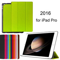 2016 Zipped Multi-Function 360 Degree Rotating Stand Cover Fashion Design Flip Leather Case for Ipad Pro 12.9 Green