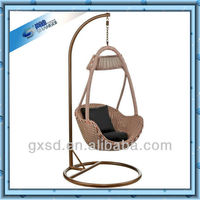 strong indoor or outdoor rattan egg chair hanging