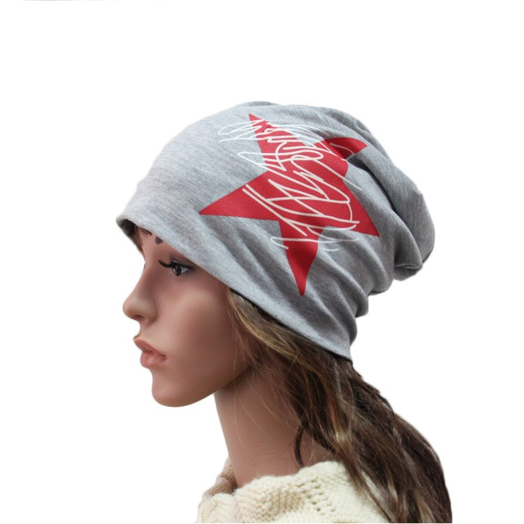 Korean Letter Five-pointed Star Spring Autumn Winter Thin Cotton Hat