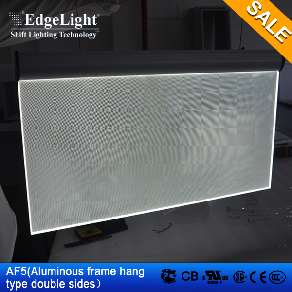 Edgelight AF5 hanging double sided <strong>LED</strong> <strong>display</strong> , <strong>led</strong> light <strong>display</strong> advertising board , CE,ROHS,UL listed indoor use