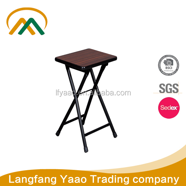Hot sale Wooden portable cheap folding stools KP-S239C