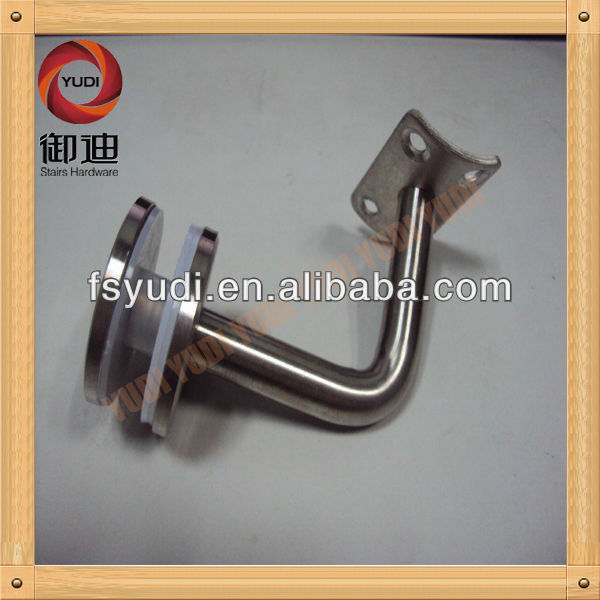 stainless steel glass holder for staircase railing