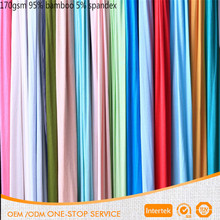 Factory wholesale bamboo fiber 170gsm 95 bamboo 5 spandex knitted fabric