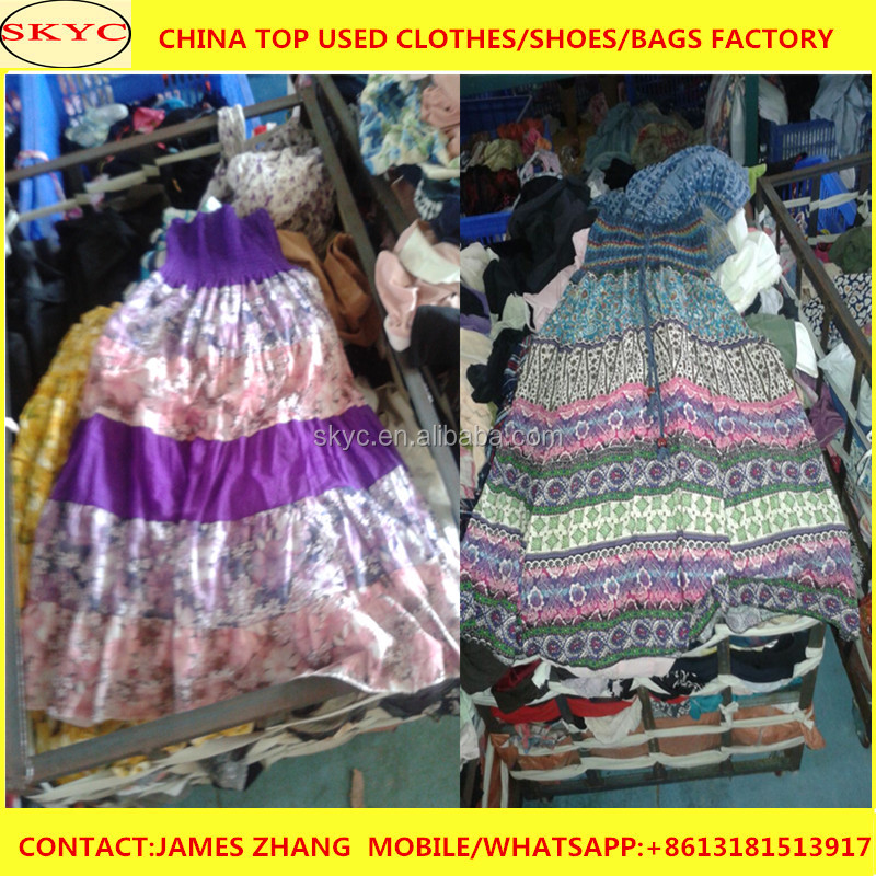 High quality used clothing hong kong female names mixed summer second hand clothing in bale