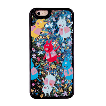 Pappa pig liquid glitter mobile phone case factory with bottomprice for iphone 6 6s 6lus 7 7plus 8 8plus X housing
