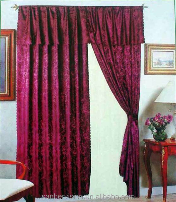 100% Polyester Jacquard Window Thick Curtain