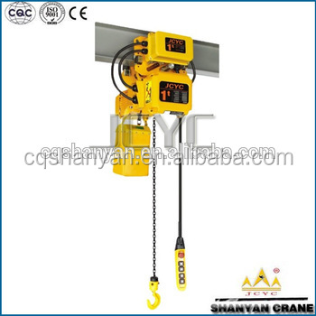 Construction Lifting machine electric chain hoist 1.5 ton 1ton with motor trolley.