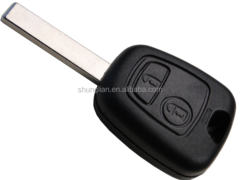 Citroen car key 407 with groove blade . transponder chip key with ID46 chip