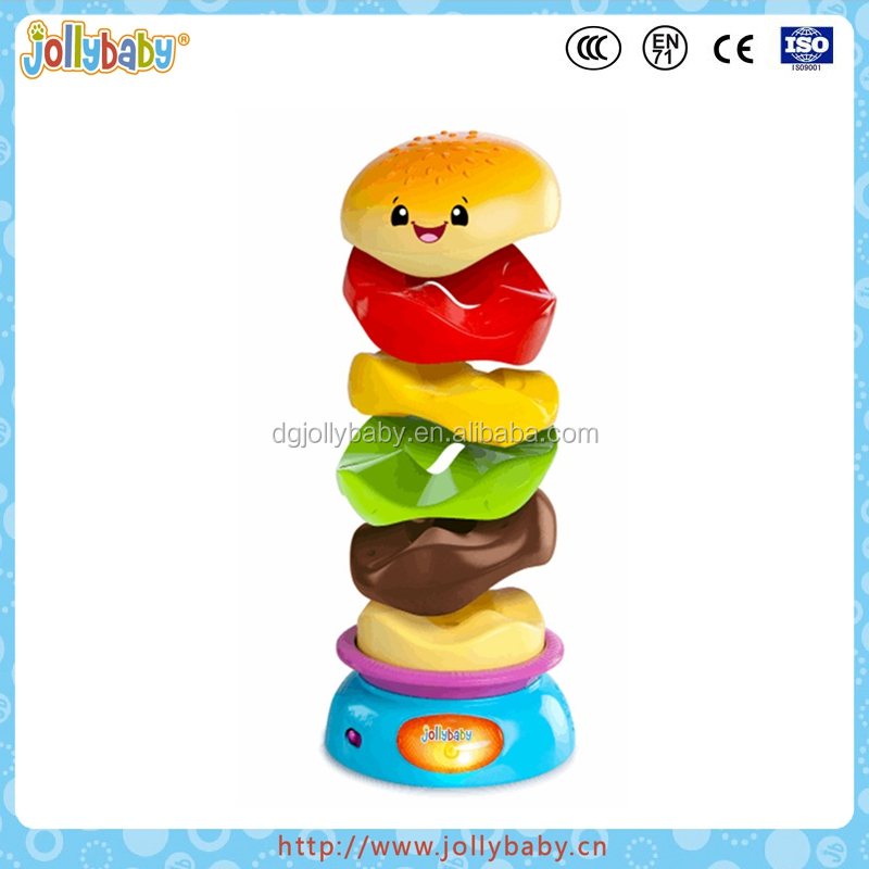 Jollybaby Innovative Baby Favourite Plastic Stack Spin Toys