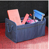 Oxford Fabric Vehicle-mounted Containing Box,Fashion Dot Large Capacity Folding Car storage Organizer With Two Handle