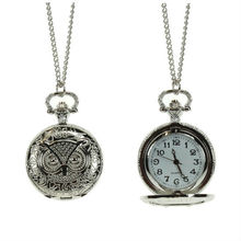 2012 latest long chain pocket owl watch necklace