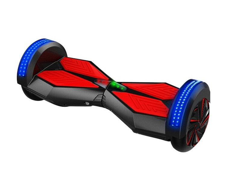 Bluetooth,Remote, LED light strip 8 inch two wheel balance io hoverboard hawk