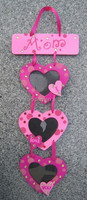 handmade hanging funny digital heart love wooden picture photo frame type