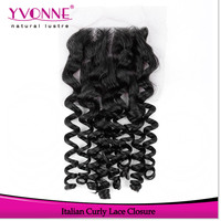 Hot selling products free style parting cheap lace closure piece curly hair