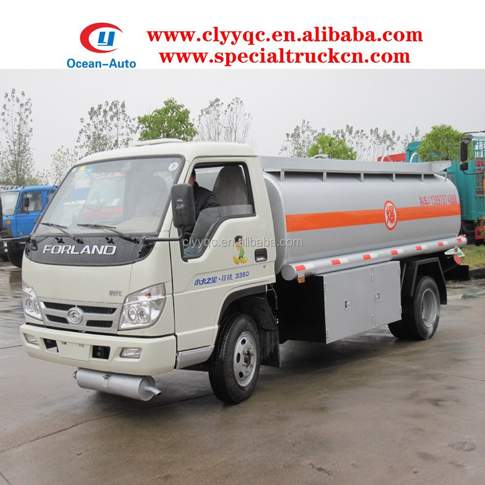 6000 liters Foton Forland fuel transport tank, carbon steel tank truck, refueling truck