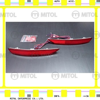 For SUBARU FORESTER (SJ) 12~on (Sequential turn signal) LED REAR BUMPER REFLECTOR LIGHT-RED