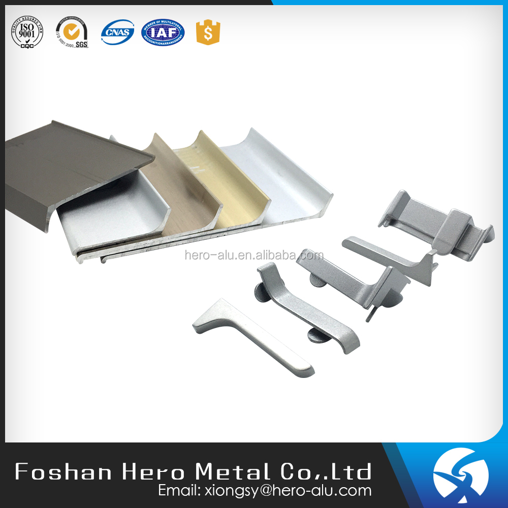 Wall protection Aluminum profile floor skirting board trim