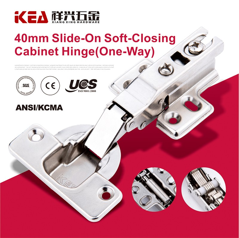 [K22B]40mm Cup Slide On Soft Closing Conceal Hinge Furniture Thick Door Hinge