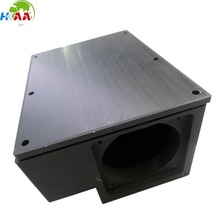 CNC machining black anodized aluminum extrusion box for music instrument accessories