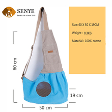 Wholesale Suitable for Small Pets Portable Breathable Canvas Messenger Dog Bag