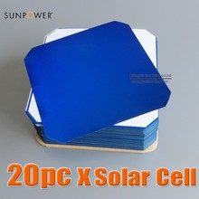 Sunpower Maxeon Flexible Solar Cell 21.8% High Efficiency 3.34W 125 x 125 C60 Monocrystalline for Solar Impulse Airplane