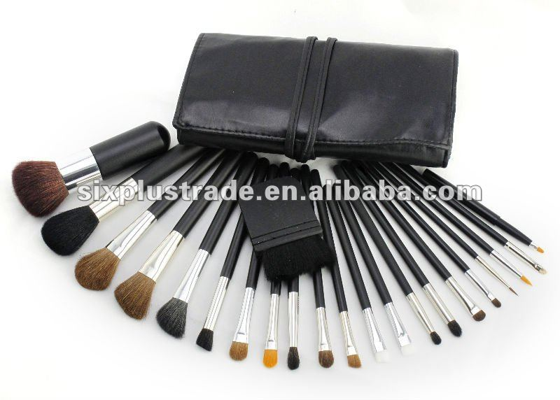 Pro 22 pc Deluxe black Makeup Brush Set with Pouch wholesale