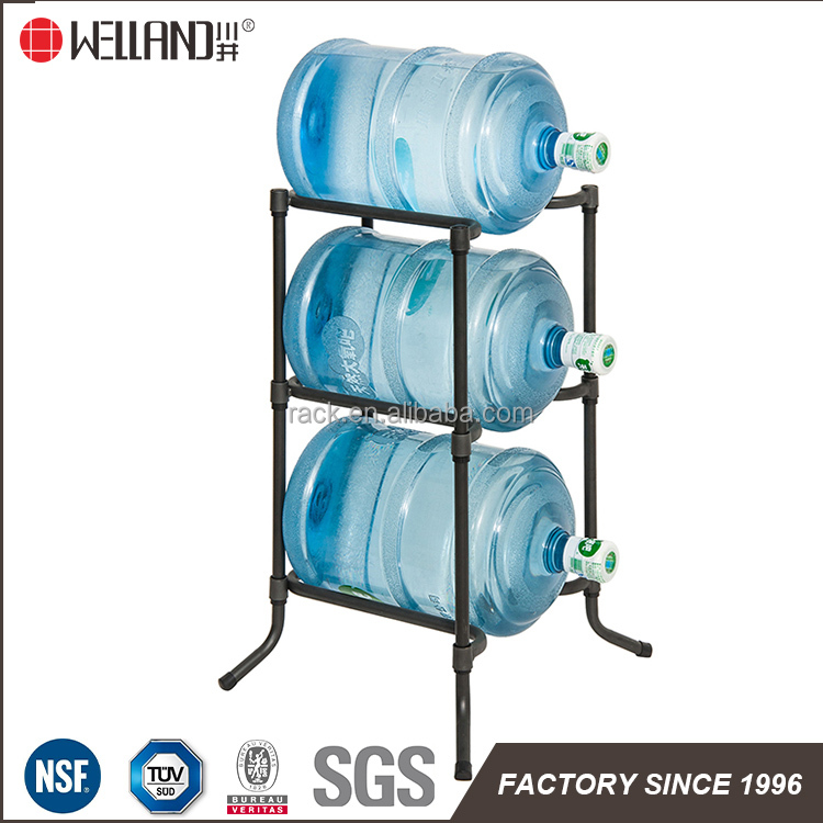 Hot Selling Metal Water Bottle Rack And Water Bottle Stand Shelf