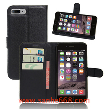 2016 New PU Leather Magnetic Folded Flip Wallet Card Holder Phone Case Cover for iPhone 7 7 Plus