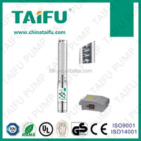 "4"" deep well bore water pump for agriculture taifu,3 phase motor"
