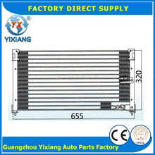 655*320*32 Aluminum Factory Auto AC Condenser For Honda Accord