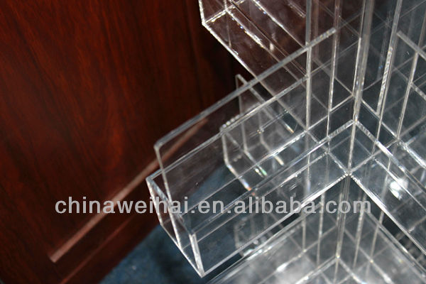 3 pockets acrylic brochure holder