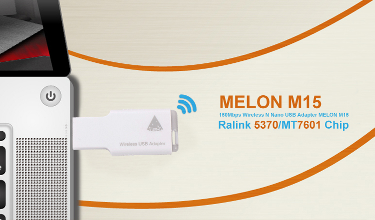 150Mbps pocket wireless usb adapter mini wifi dongle with Ralink MT7601 Melon M15