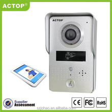 2015 new design ip video intercom home alarm system with door opening supports two way intercom and remotely unlock door