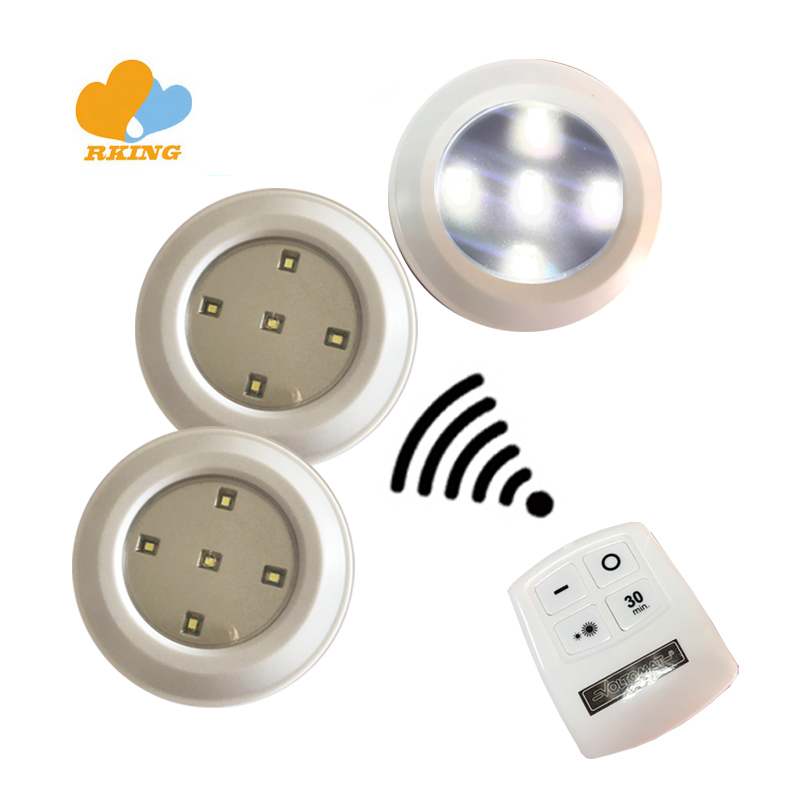 LED Push Lights smart Simple to use stick-on night lights wall clock with 5 bright leds