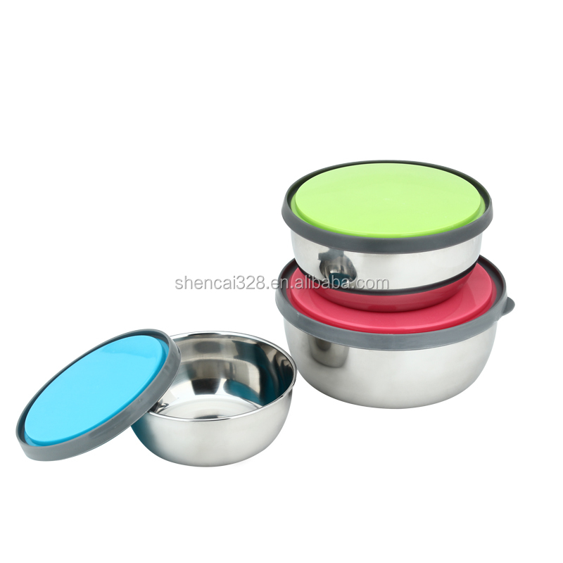 online shopping Set of 3 Stainless Steel lunch box and food storage containers, Multi Color