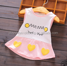 Fashion cartoon love children's skirt Vest knitted dress baby fashion dress