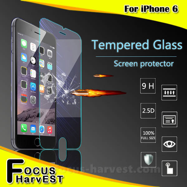 0.33mm&0.26mm 9H 2.5D Factory supply Tempered Glass Screen Protector For iphone 6 welcome OEM/ODM