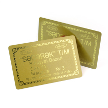 Glittering plastic VIP cards gift discount cards printing with golden background membership card