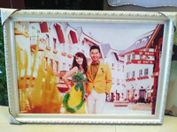 Supercolor Newest Products European-Style Solid Wood Frame Hanging Wall A4 7 20 24 Inch Wedding Photo Frame