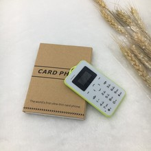 Factory cost ColourfulSM 2G Ultra Thin Credit Card Mobile Phone C6