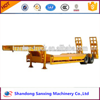 Heavy Duty Low Flatbed Semi Trailer