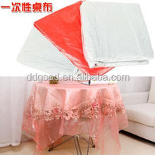 Green and Clean HDPE plastic bag of disposable table cloth