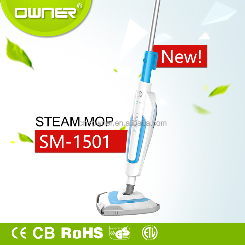 Iron Pole Material and ABS plastic shaft,PP Mop Head Material dirt devil steam mop